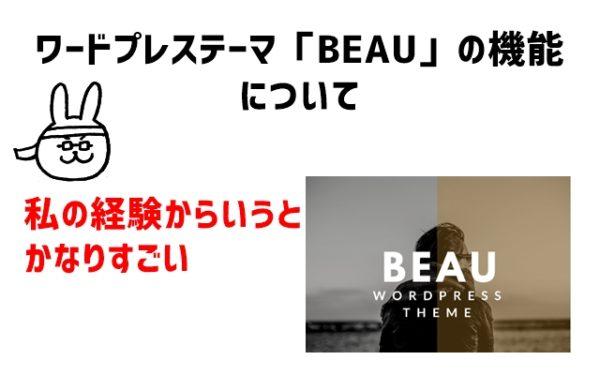 ワードプレステーマ「BEAU」の機能